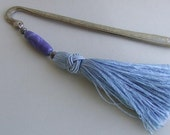 Pewter Bookmark in Shades of Blue