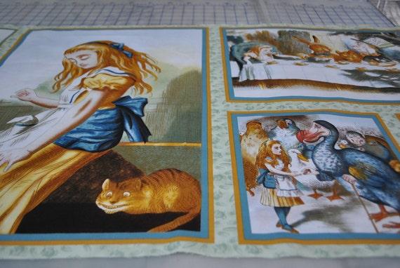 LAST PANEL - OOP - Quilting Treasures - Alice in Wonderland Panel