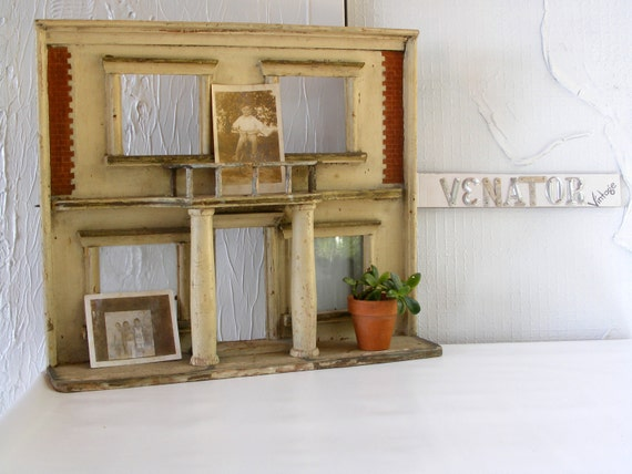 Vintage Miniature Mansion Ruin Architectural Salvage Display Prop