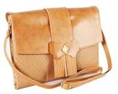 Leather Bag - Camel Morpho Clutch Bag - Sale Sale