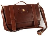 Leather Bag - Dark Brown Triodes Bag - Sale Sale