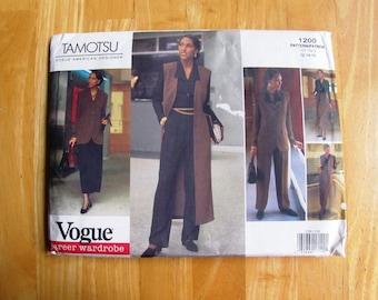Uncut Vogue Sewing Pattern 1200 - Tamotsu Size 12 - 16