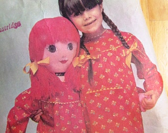 Uncut McCalls Sewing Pattern 3397 - Betsy McCall Rag Doll