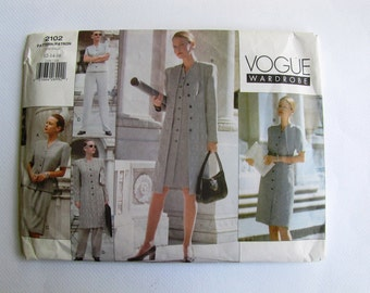 Uncut Vogue 2102 Sewing Pattern - Vogue Wardrobe - Size 12 - 16