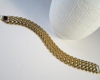 Classy Vintage Gold Tone Seven Row Bracelet