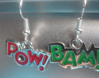 Mismatched BAM / POW Earrings