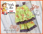 Zoe... Girl's Dress Pattern. Top Pattern. pair with my Ruffle Shorts Pattern, Ruffle Pants Pattern. Girl's Sewing Pattern. pdf