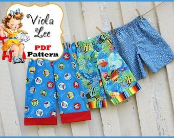 Trevor... Boy's Pants Pattern, Long Pants, Cuffed Long Pants, Beach Shorts Pattern, Shorts Pattern. Toddler Boys Sewing Pattern. pdf Pattern