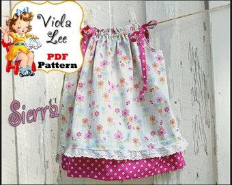 Sierra...Pillowcase Dress Pattern. Double layer Toddler Pillowcase Dress Sewing Pattern. Infant Dress Pattern. pdf, Girl's Sewing Pattern.