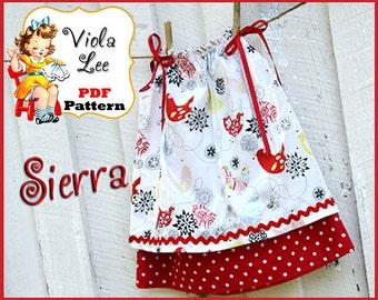 Sierra...Pillowcase Dress Pattern. Double layer Pillowcase Dress Sewing Pattern.Toddler Dress Sewing Pattern.  pdf, Girl's Sewing Pattern.
