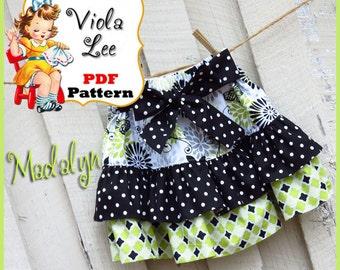 Madalyn.... Ruffled Twirl Skirt Pattern. Girl's Skirt Pattern. pdf Sewing Pattern, Ruffled Skirt Pattern. INSTANT DOWNLOAD