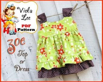 Zoe...Ruffle Toddler Dress Pattern and Top Pattern. Girl's Dress Pattern. PDF Girl's Sewing Pattern. Toddler Pattern