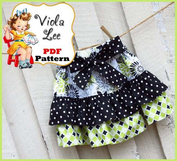 Madalyn.... Ruffled Twirl Skirt Pattern. Girl's Skirt Pattern. pdf Sewing Pattern, Ruffled Skirt Pattern.Toddler Skirt Pattern. pdf Pattern