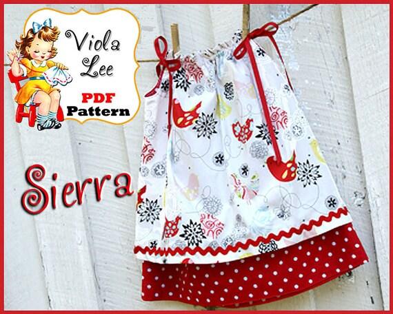 Sierra Pillowcase Dress Pattern Double Layer Pillowcase