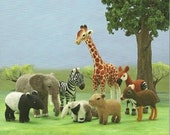 Ebook Needle Felt Wild Animals PDF Patterns, Japanese Patterns, Kawai Patterns, Free Shipping No.22