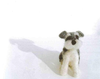 Ebook Needle Felt Pattern, English Pattern, Needle Felt Dogs, Kawaii PDF Patterns No.13