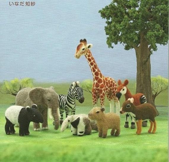 Ebook Needle Felt Wild Animals PDF Patterns, Japanese Patterns, Kawai Patterns, Free Shipping No.22