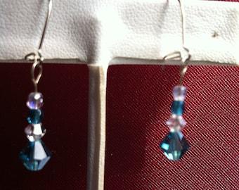 Sterling silver earrings with swarvoski crystals