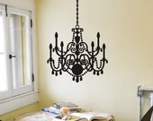 Chandelier Wall Decal Wall Sticker Wall Decor Chandelier Decal Chandelier Sticker Chandelier Decor Wall Decoration Removable Vinyl