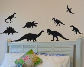Dinosaur Wall Decals Boys Room Wall Decals Baby Boy Nursery Wall Decor Dinosaur Decorations Boys Bedroom Wall Stickers Bed Room Removable