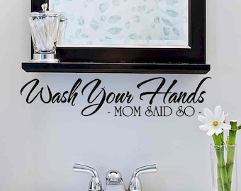 Bathroom Wall Decor Bathroom Wall Decal Bathroom Decal