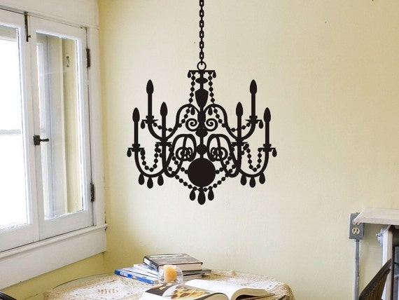 Chandelier wall decal wall sticker wall decor chandelier decal like this item aloadofball Gallery