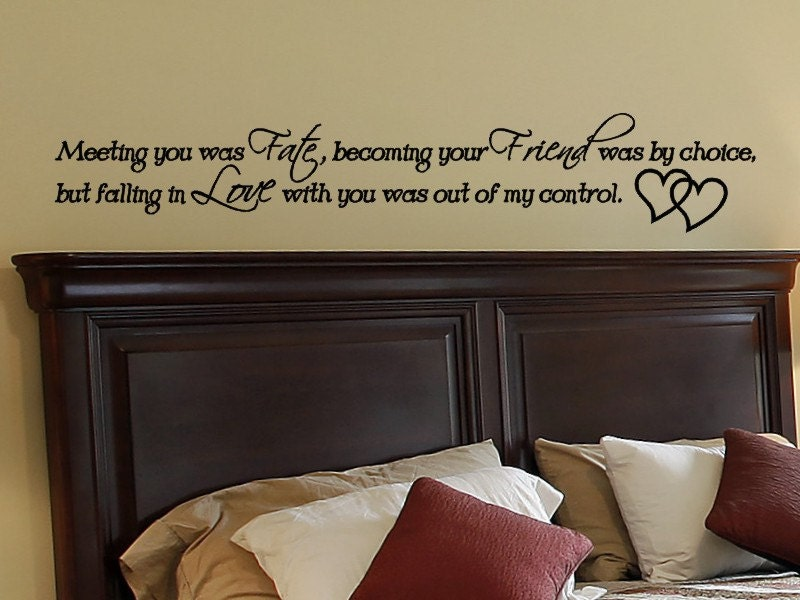 Master bedroom wall decal wall decor love quotes wall art for Bedroom wall decals