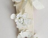 White Flower Guitar Strap