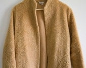 1940s Faux Fur Cotton Jacket / Coat size 12