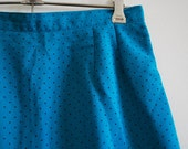 Jade Green Black spotted / spotty mid length high waisted skirt - size 6 to 8