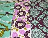 Purple & Teal Burp Cloths