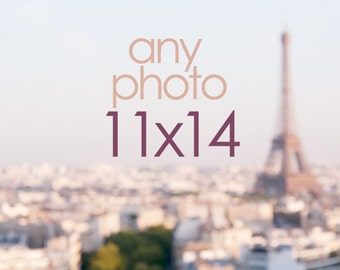 Any 11 x 14 Photograph, Wall Decor, Paris, France, Travel, Home Decor, Large Photo