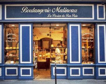 Paris Photograph - Boulangerie Malineau, French bakery, Patisserie, Paris, France, Kitchen Art, Wall Decor