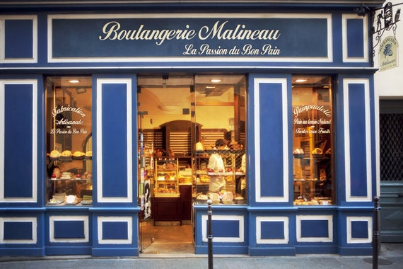Paris Photograph - Boulangerie Malineau, French bakery, Patisserie, Paris, France, Kitchen Art, Wall Decor