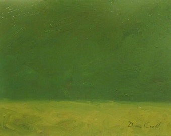 Landscape Study with Green Sky - ORIGINAL Oil on Canvas
