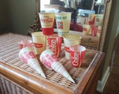 SALE - Vintage Paper Coke Products Cups and Accessories