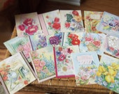 SALE - Box of Unused 1950's Get Well Cards w/Envelopes