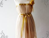 NEW ARRIVAL - Amor Dress Vintage Inspired- A Lovely Tutu Cocktail Dress in Beige