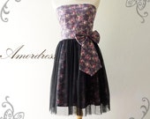Dress Vintage Inspired Purple Dress Princess Romance- Magical Floral Purple Tulle Dress for Wedding, Prom, Any Occasion- Fit XS-S-