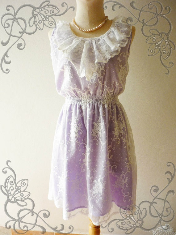 HOT Christmas SALE - Amor Vintage Inspired- Lavender Sweet- Lovely Cocktail Sleeveless Lace Dress for any occasion
