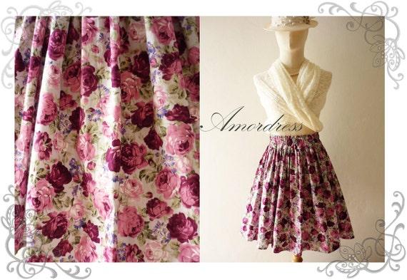SALE  Floral Wonderland- Vintage Style Handmade Cotton Skirt Mix and Match