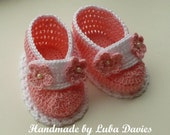 Instant Download Crochet Pattern (pdf file) - TASHA baby shoes