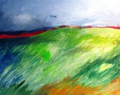"Original Abstract Landscape Painting on Canvas Modern Contemporary Art ""Windswept"""