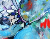"""Abstract Expressionist Painting  Colorful Artwork """"There's a Fire in My Heart"""""""