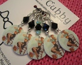 Who Says Knitting Isn't Sexy Pin Up Girl NON SNAG Stitch Markers