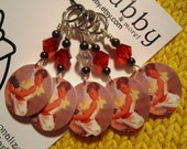 Cup Cake Anyone Pin Up Girl NON SNAG Stitch Markers