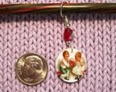 Vintage Valentine Sweethearts NON SNAG Stitch Marker