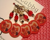 Be Mine Vintage Valentine NON SNAG Stitch Markers