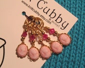 Elegance in Pink (listing for FIVE) NON SNAG Cameo Stitch Markers