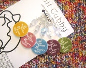 Keep Calm Carry YARN NON SNAG Stitch Markers